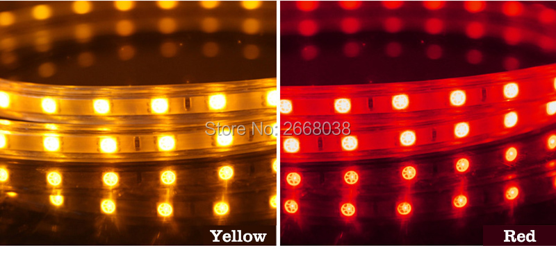 LED strip light AC 220V colors