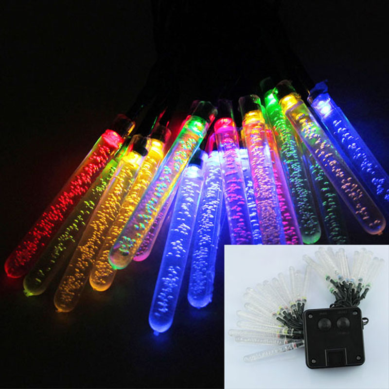 20 LEDs Ice Piton Shape LED Lighting Strings Outdoor Waterproof Solar Power Fairy Lights Party Decoration Light<br><br>Aliexpress