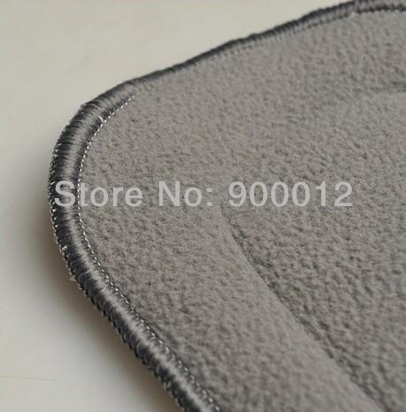 5 шт. / lot бамбуковое волокно уголь 5 слоя стирающийся ткань одежда подгузники микрофибра вмонтированная многоразовые