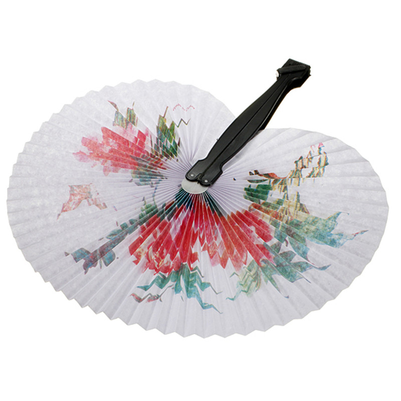 Convenient 1pc Chinese Paper Folding Hand Fan Oriental Floral Fancy Party Wedding Favors Gifts Craft(China (Mainland))