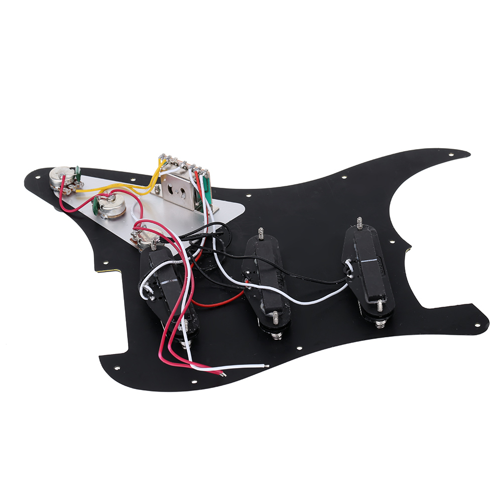 Electric Guitar Prewired Pickguard 5 Way Switch Loaded Pickguard Set with 3 Ply and 11 Hole High Quality(China (Mainland))