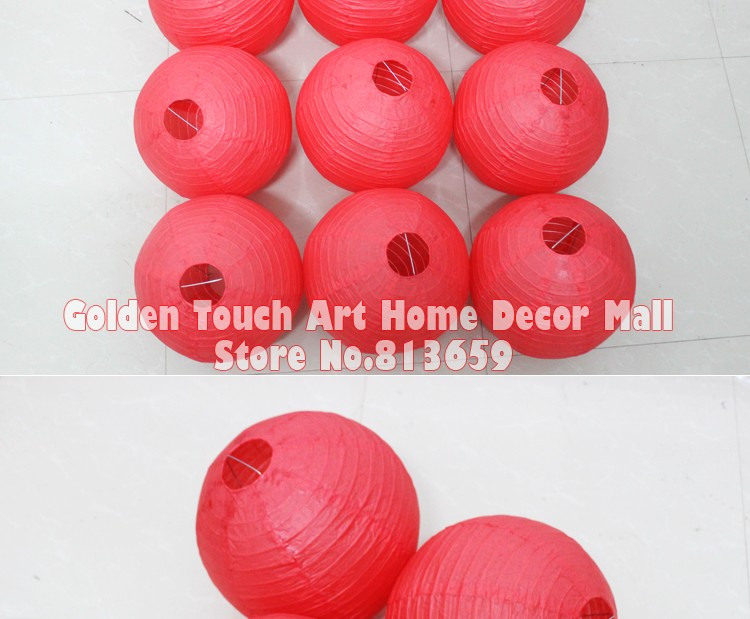 10pcs/lot 12 Inch 30cm Japanese Round Paper Hanging Lampion For Birthday  Event Party Decor Red Paper Lantern Paper Ball   Us90