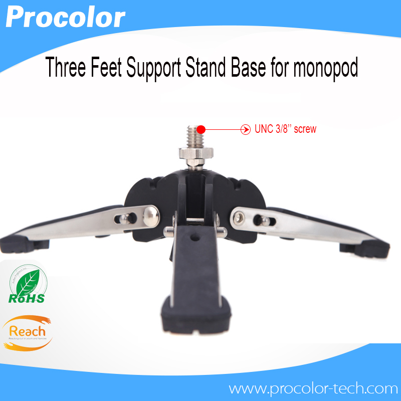 Diat Universal Three Feet Monopod Support Stand Base For Dslr Camera 3/8 Screw Rotatable Portable Tripod For Camera