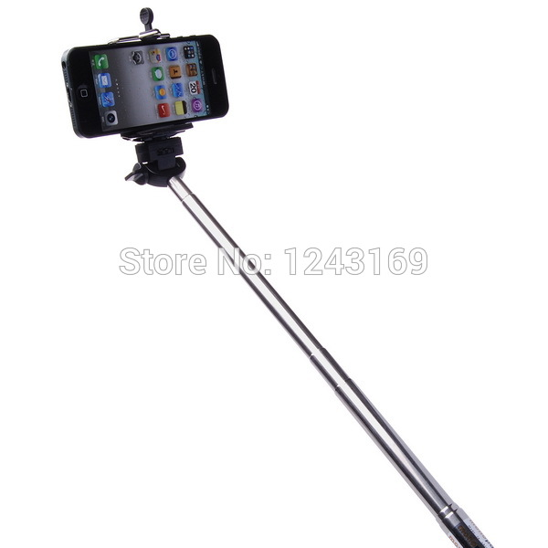 xcsource extendable handheld selfie stick tripod monopod clip for iphone 4. Black Bedroom Furniture Sets. Home Design Ideas