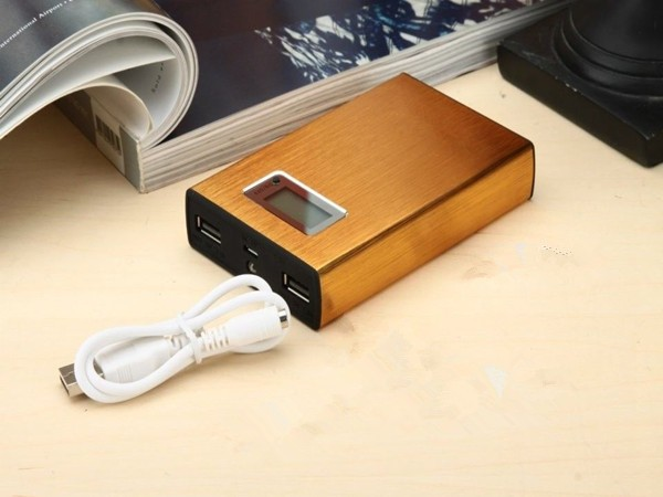 Free shipping 12000mAh Metal USB Power Bank Cute Charger 18650 Batery Bank for Tablet Mobile Phone