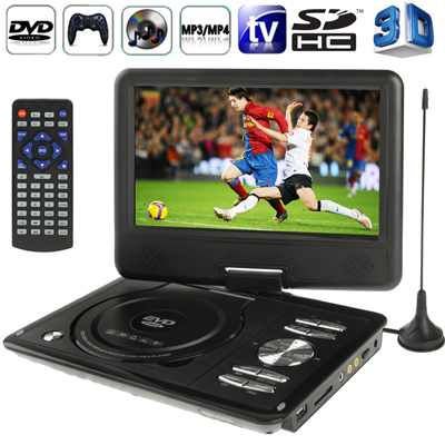With 3D Movies 9.0''TFT LCD Digital Multimedia Portable EVD / DVD Analog TV (PAL / NTSC / SECAM) Game USB Ports MS MMC Card(China (Mainland))