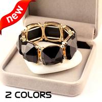 2 colors new arrival Unique Exclusive fashion elegant Stretch beaded stone bracelet jewelry hot accessories wholesale 2014 PT36