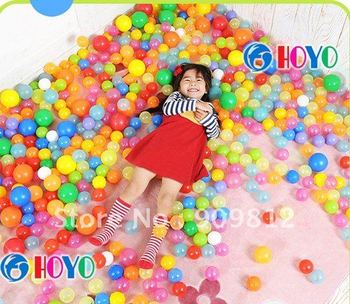 Free Shipping 7CM PE plastic Tent Water pool Ocean wave ball, Funny toys, 4g 100pcs/lot