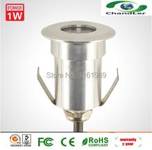 Бесплатная доставка из светодиодов подземный свет 1 Вт на бортике фары сад лампы для внешнего освещения / DC12V IP65 / CE / ROHS 5 шт./лот