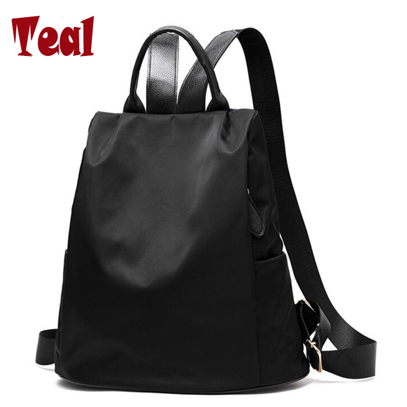 Women's backpack school supplies oxford school bag mochilas mujer 2016 space backpacks for teenage girls BLACK high quality 2016(China (Mainland))