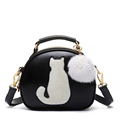 Fashion women Messenger Bag Shoulder Bag Lady lovely small cat hair ball Xiekua package trend of