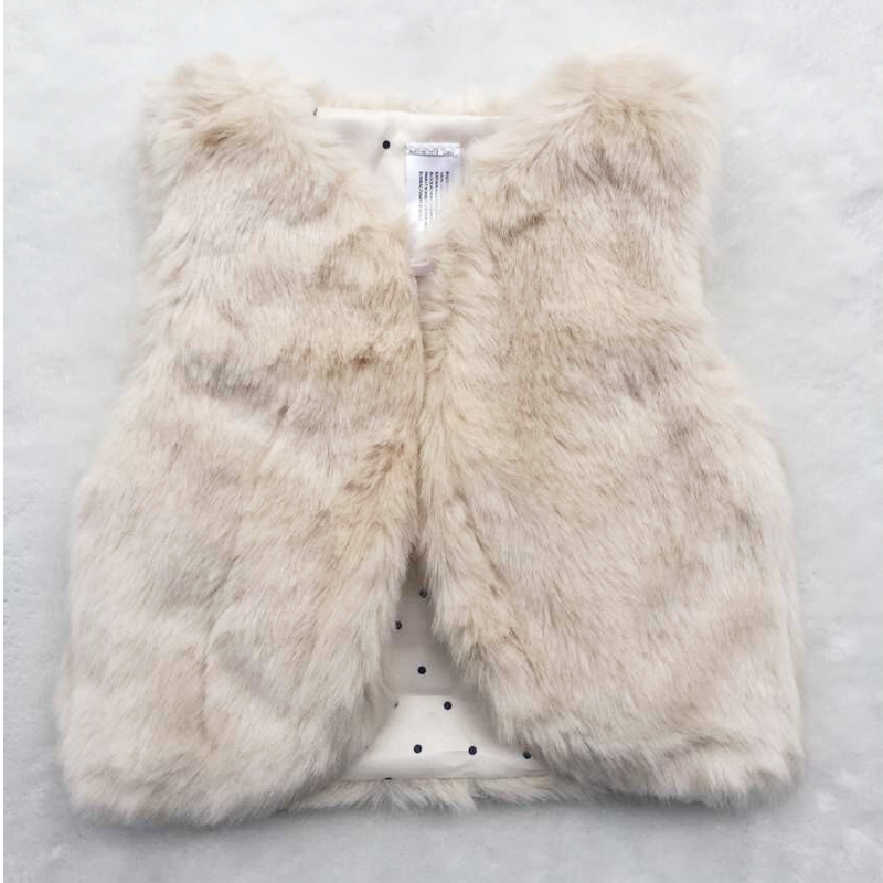 Гаджет  HOT Autumn and winter thickening Faux Fur baby girls cotton-padded vest kids vests & waistcoats Children Faux fur Vest Girls None Детские товары