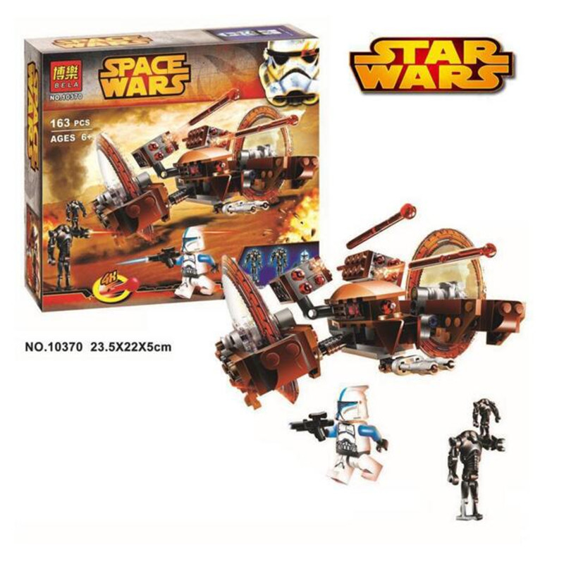 BELA 10370 Earth Border Star Wars ABS Plastic Building Block Sets Toys Space Wars DIY Bricks For Children Compatible With LEGO