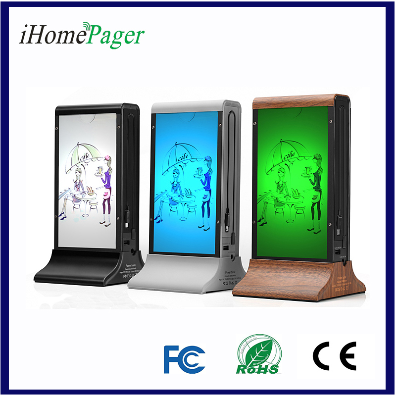 CE FCC RoHS Table Stand Menu Holder Power Bank For Coffee Shop and Restaurant(China (Mainland))