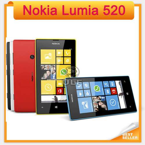 "Original 520 Nokia Lumia 520 Windows Mobile Phone 8 Dual core 8GB ROM 5MP GPS Wifi 4.0"" IPS Unlocked Cell Phone(China (Mainland))"