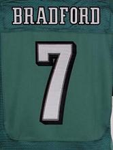 MEN'S 20 Brian Dawkins 11 Carson Wentz 43 Darren Sproles 7 Sam Bradford black white green stitched elite jersey size 40-56(China (Mainland))