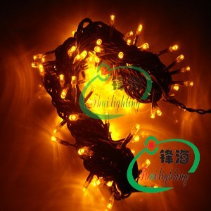 10M 100pcs Yellow led christmas light/ led christmas string light/AC110V or AC 220V/Waterproof good for outdoor use