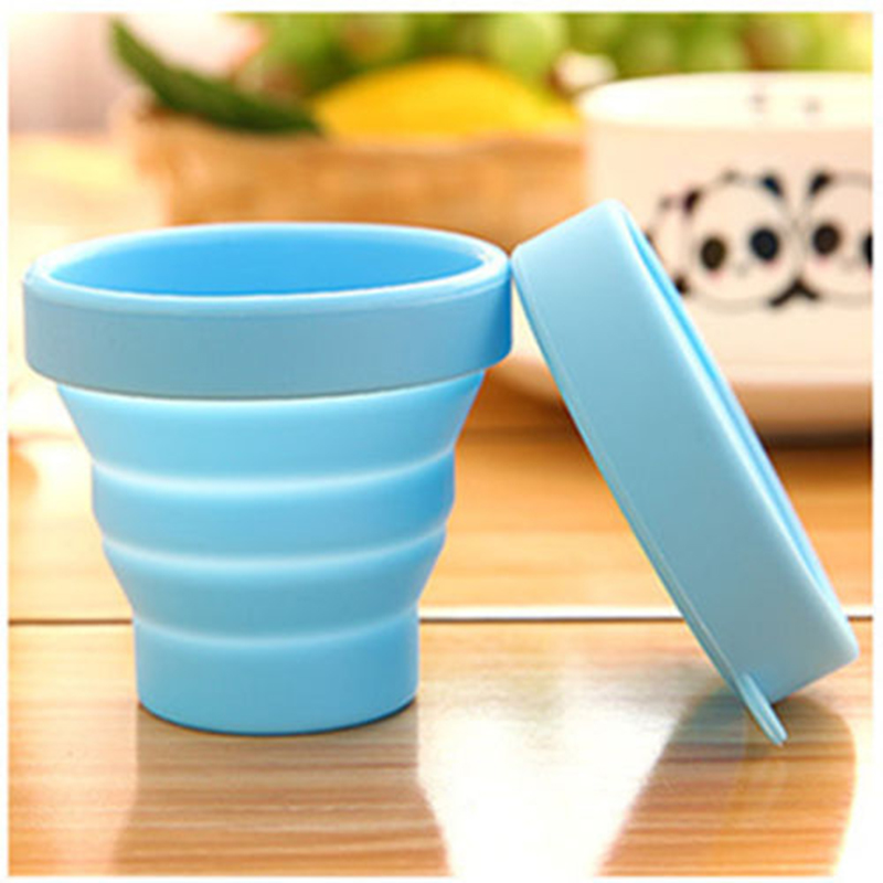 Portable Silicone Retractable Folding Cup Telescopic Collapsible Outdoor Travel Free Shipping