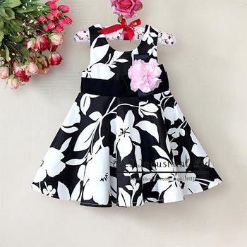 Free Shipping Baby Girls Fashion Dress Kids Beautiful Flower Dresses Children Clothing Infant Summer Wear Wholesale E130105-28