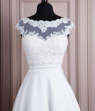 Di alta qualità bianco 2016 tulle con i appliques bead serbatoio da sposa bolero giacca da sposa in pizzo scrollata di spalle del capo dello scialle(China (Mainland))