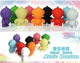 New year gift doll sound cartoon speaker monster mini stereo music monster 100