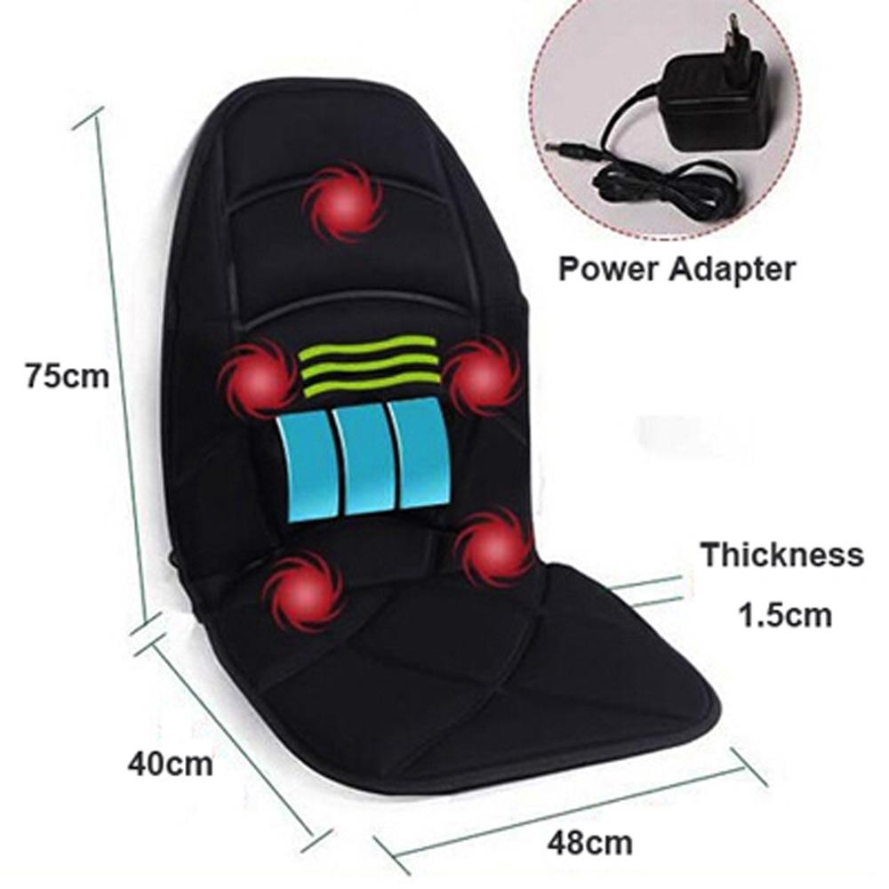 Neck Back Massage Heat Cushion Home Car Magnetic Field Lumbar Heat Vibrate Cushion Neck Massage Chair Massage Relaxation(China (Mainland))
