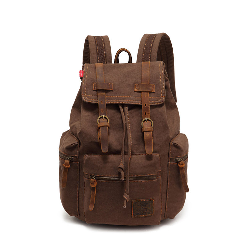 2014 New Casual Canvas Men Backpack Retro Vintage Male Students School Bags Outdoor Man Shoulder Bags