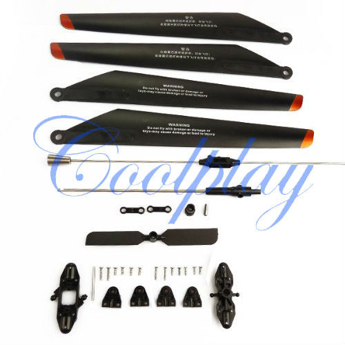 Updated Main Blade set A B 9053-04+Quick Wear Parts for The Double Horse 9053 Gyro Helicopter