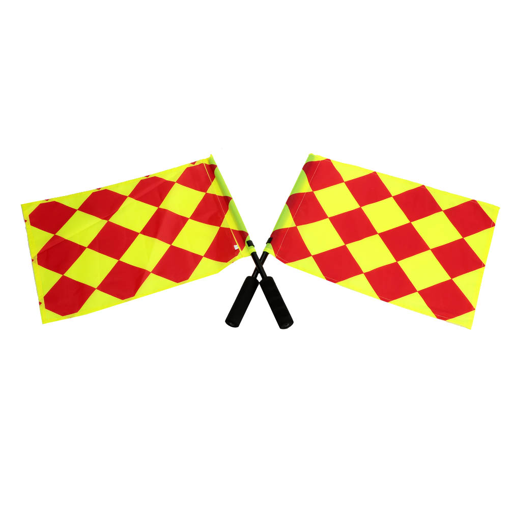 2Pcs Football Judge Sideline Flag Soccer Referee Flag Fair Play Sports Match Football Linesman Flags with Carry Bag(China (Mainland))