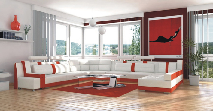 modern furniture leather sofa sectional home furniture iving room sofa set white color(China (Mainland))