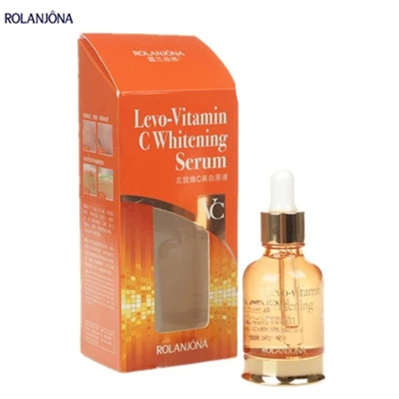 rolanjona vitamin c whitening serum 30ml/bottle whitening anti spot cream ageless products lighten dark spot remover for face(China (Mainland))
