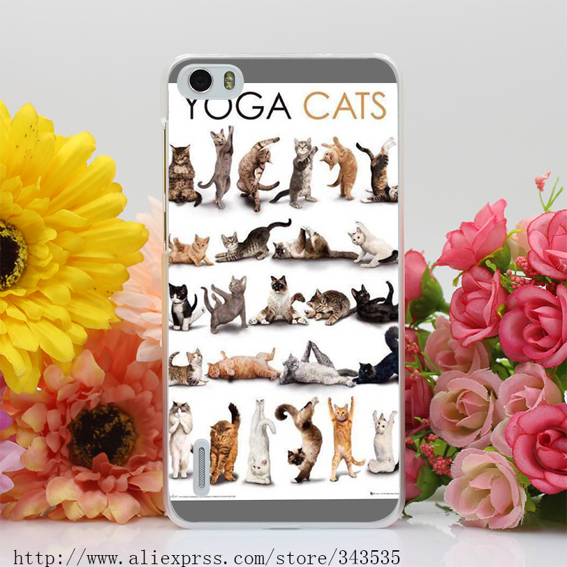 440OI Popular Yoga Cats Hard Cover Case for Huawei P6 P7 P8 P9 Lite Plus Honor 6 7 4C 4X G7(China (Mainland))