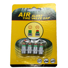 Car Styling 1 Set /4pcs 2.0bar 30PSI Car Tyre Tire Pressure Monitor Indicator Valve Stem Caps Sensor 3 Color Eye Air Alert