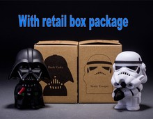 10cm 2pcs/lot Q Style Star War Darth Vader & STORM TROOPER Action Figure Model Toy Come with Retail original Box