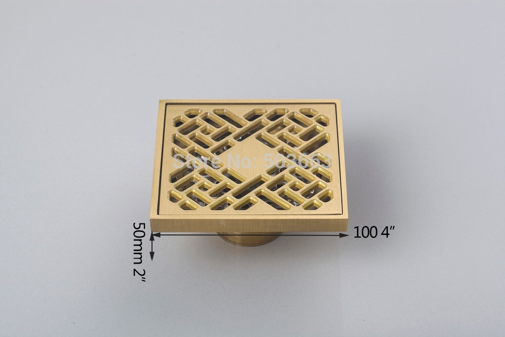 5404 Construction Real Estate Fashion Ross Antique Brass Grate Floor Register Waste Drain 4 x 4