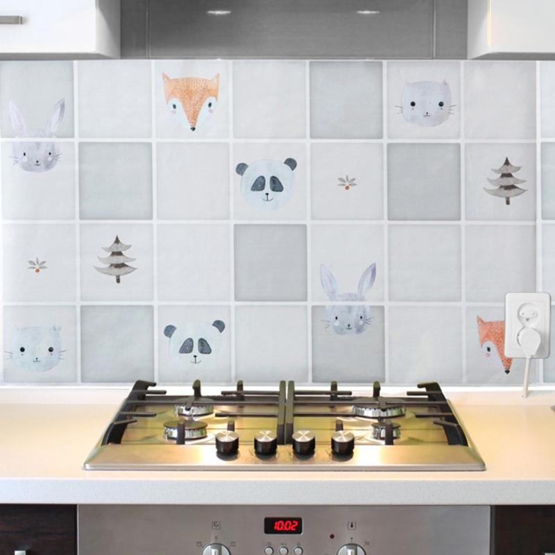 75*45CM Kitchen Room Anti Oil Wall Stickers Mural Art Foil Decals Wallpaper Prevent Fumes Easy Clean A45(China (Mainland))