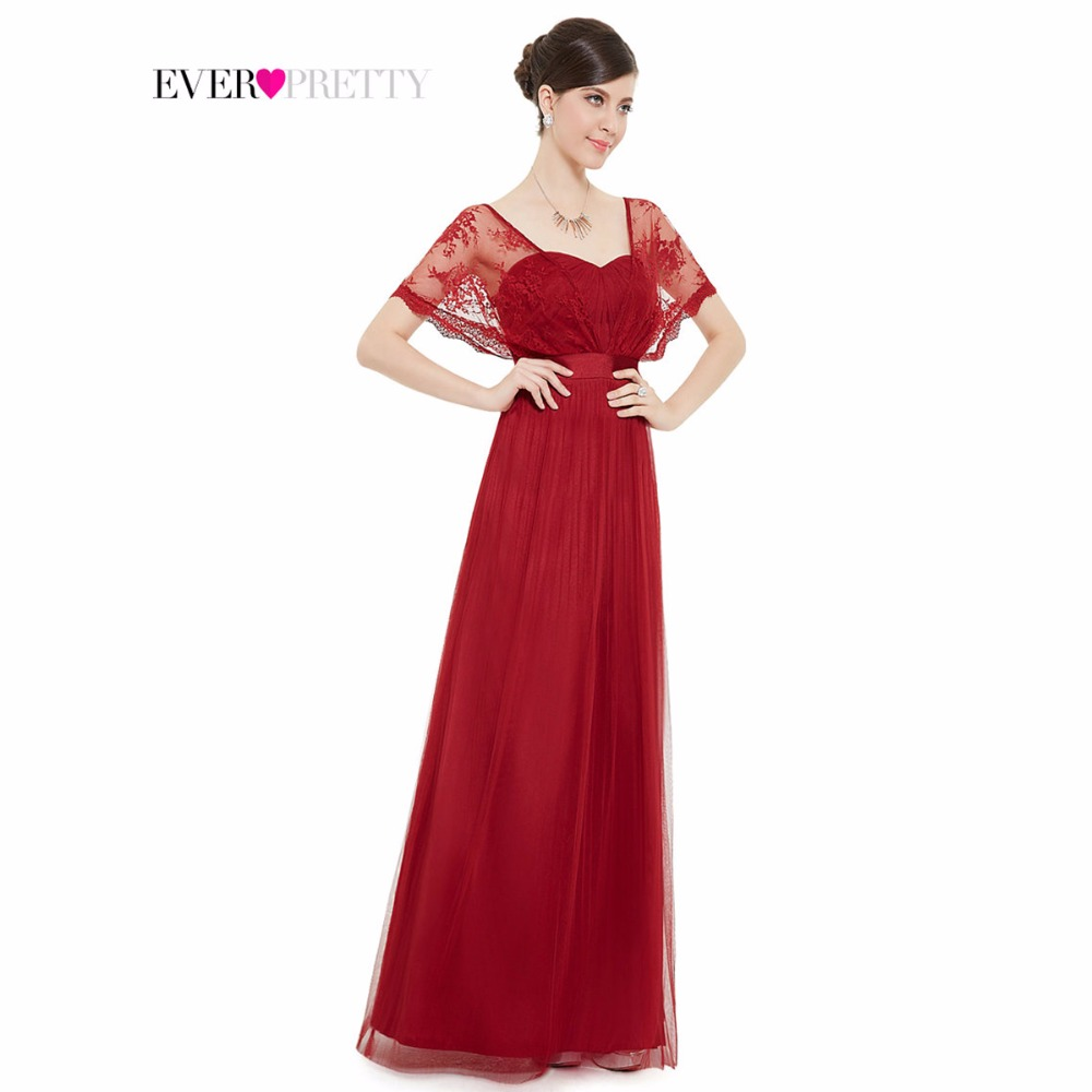 Prom Dresses 2016 Elegant Burgundy Lace Wraps Chiffon Long Red HE08450RD Real Photos Special Occasion - Ever Pretty official store