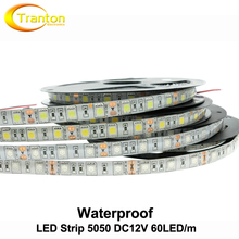 LED Strip 5050 Waterproof DC12V Flexible LED Light 60 leds/m IP65 Waterproof 5m/lot 5050 RGB LED Strip.(China (Mainland))