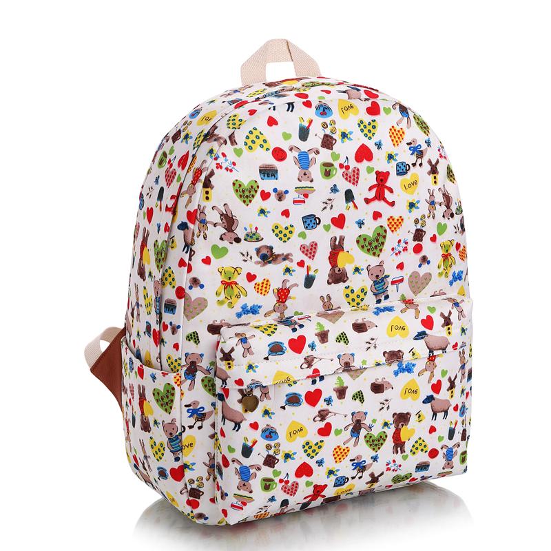 2016 new fashion leisure backpack harajuku cute cartoon