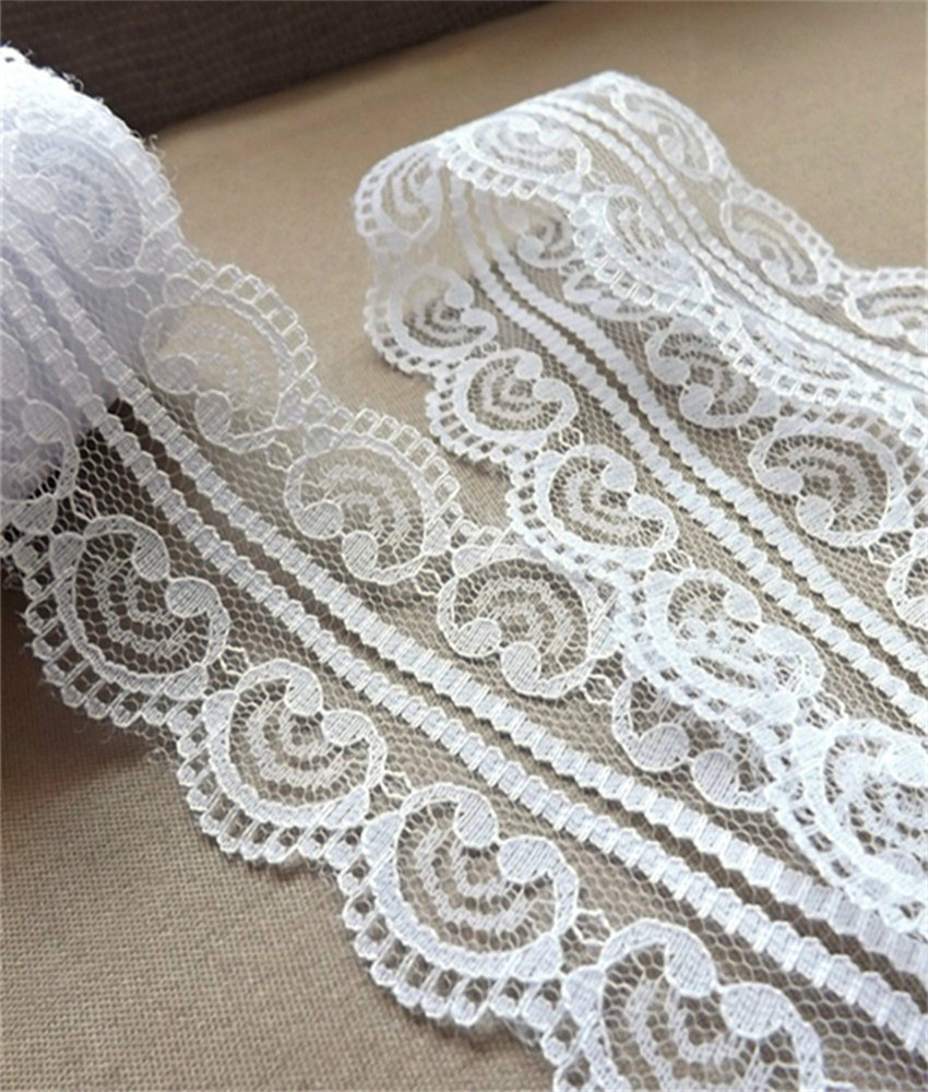 Width 50mm Beautiful 12 yards 12 colors Embroidered Net Lace Trim Garment ribbon headband wedding party