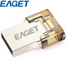 100% Original 32GB 16GB 8GB USB Eaget V8 USB Flash Drive 2.0 + OTG for Phones Tablets Computers Two in One Pen Drive(China (Mainland))