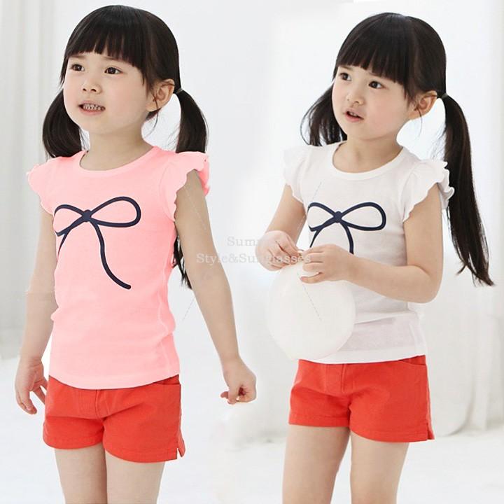 Bowknot Shirt Girls Bowknot Shirt New