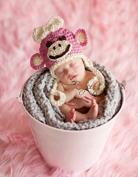 Free-Shipping-Girl-Monkey-Pattern-Handmade-Crochet-baby ...