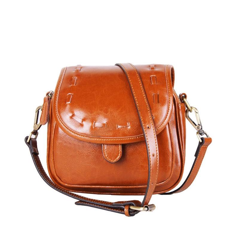 Brand oil wax cowhide Restore ancient ways women messenger bag Knitting female shoulder bag bolsas fashion beauty free shipping