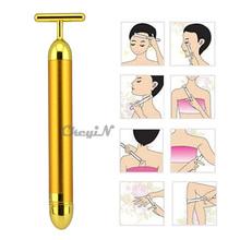 Facial Roller Massage Skincare Wrinkle Treatment Golden Energy Beauty Bar Face Massager Beauty Care Massage Stick MR002G-H60