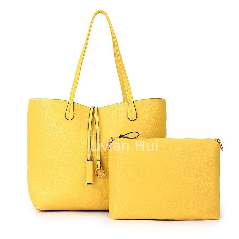 2015 Spring Summer Two-pieces Composite Handbag PU Leather Picture Handbag Women Discount Factory Wholesale Free Shipping(China (Mainland))