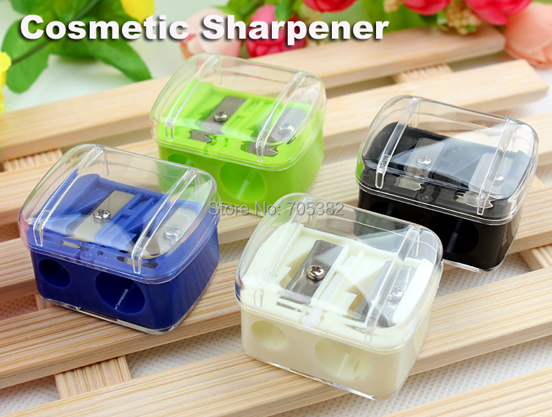 Fashion double holes cosmetic sharpener,Sharpener for cosmetic brush/ eyeliner pencil (SS-1844)(China (Mainland))