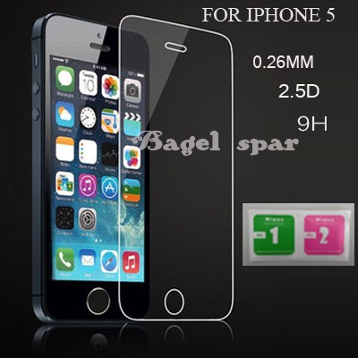 for iphone 5 Tempered Glass for iphone 5 Screen Protector for iphone 5s Glass 9H 2.5D 0.26mm Tough Screen Film For iphone5 glass