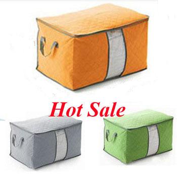 2015 Hot Bamboo Charcoal Storage Box Organizers Of The Quilt Clothing Storage Bag Non Woven caixas organizadores Storage Box(China (Mainland))