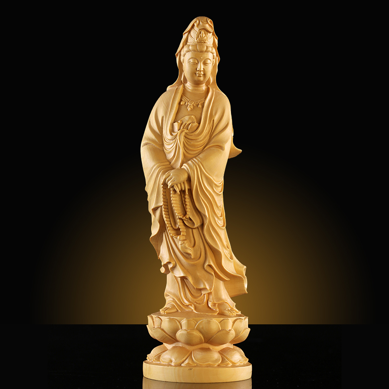 wood carving crafts,wooden art,fashion household wooden ornaments,bodhisattva(China (Mainland))